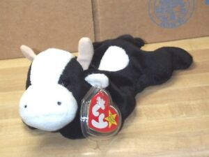 055376280b7 TY beanie baby babies Daisy Black   White Cow 5-10-1994 Mint Tags 9 ...