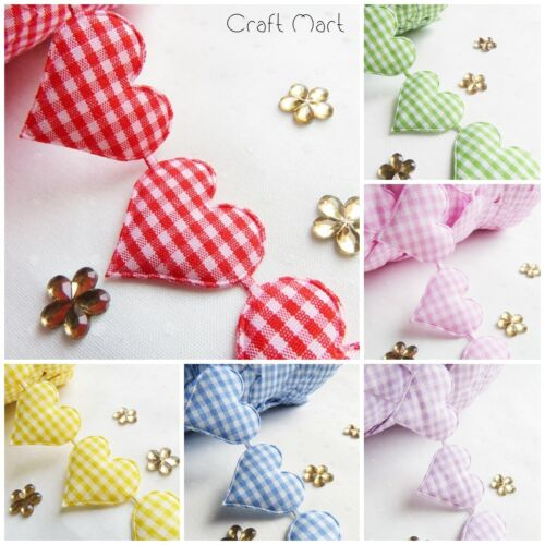 Cotton Gingham Fabric trim lace ribbon Love rustic sewing patchwork vintage craf