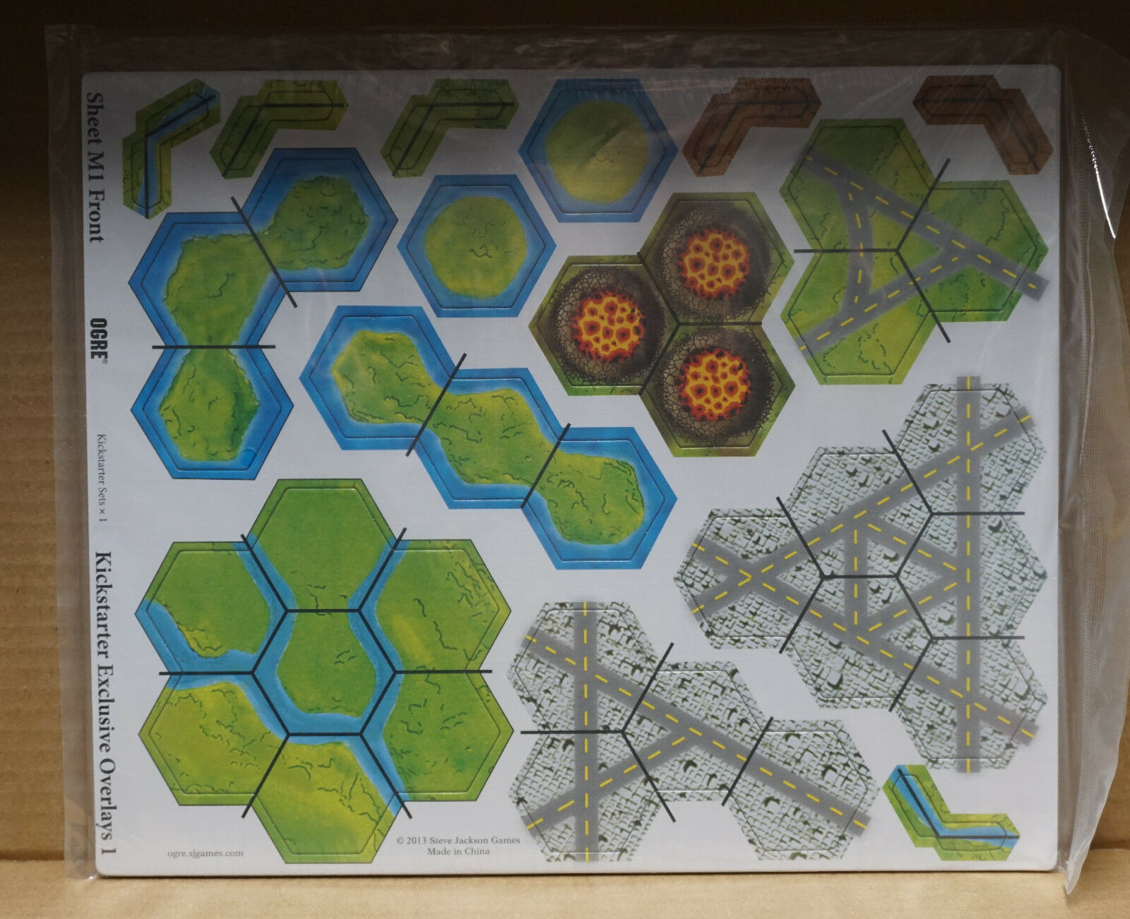 Ogre Board Game pédale de démarrage Exclusive superpositions 1 Feuille M1 & M2 (2 feuilles)