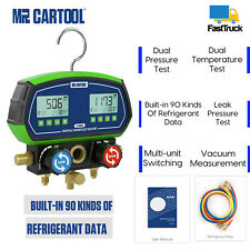 Refrigeration Digital Manifold Gauge Hvac Vacuum Pressure Tempe Meter Leak Test
