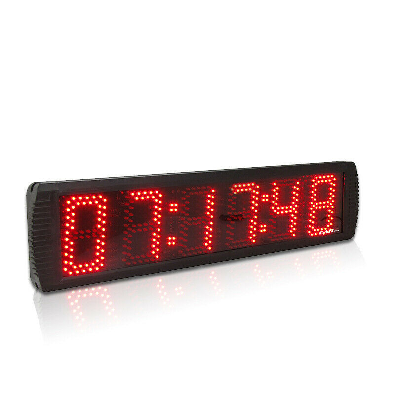 BTBSIGN 5 6Digits Large LED Countdown Timer Sport Running Race Clock with Remote