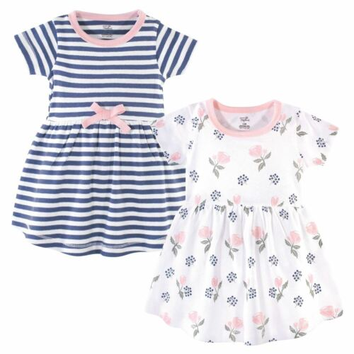 Touched By Nature Girl Organic Cotton Dress 2-Pack Rose and Berries