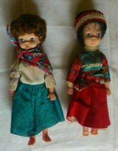 2 X Vintage Costume Dolls-afficher Le Titre D'origine Divers ModèLes RéCents