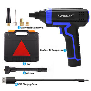 USB-Rechargeable-Battery-Car-Air-Compressor-150PSI-Tyre-Inflator-Pump-Portable