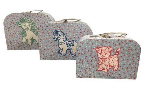 SONDERPOSTEN 18 Stück  3-teiliges Set Pappkoffer Reisekoffer Kinderkoffer
