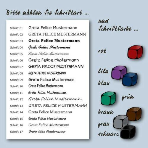 Sport Kindergarten für Schule 189 klar transparente Namensetiketten