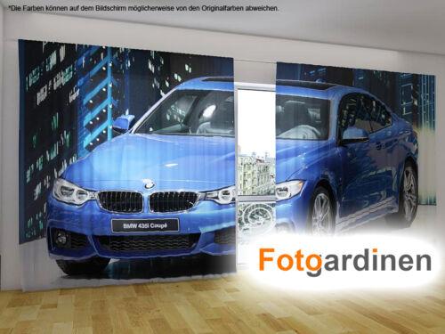 """Fotovorhang auf Maß Fotogardinen /""""BMW/"""" Vorhang mit Motiv Fotodruck"""