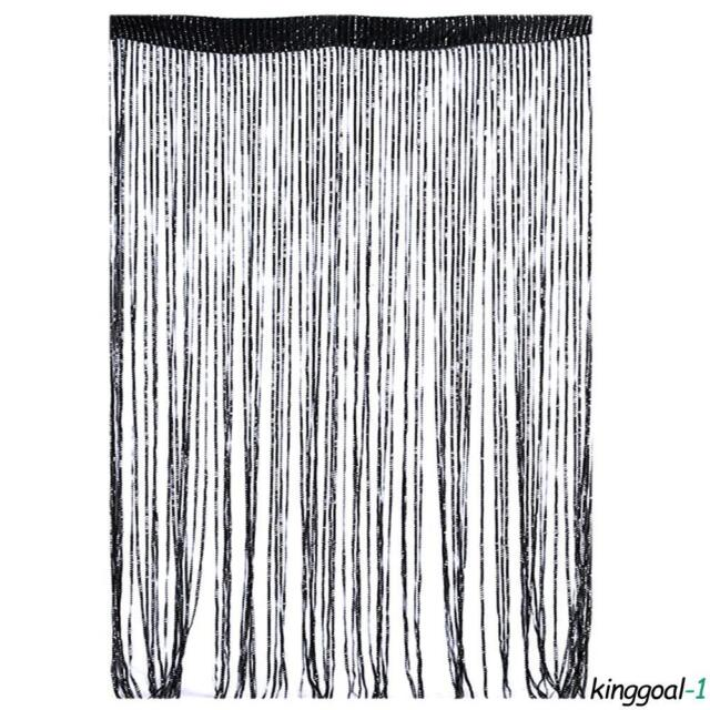 String Sparkle Curtains Patio Fly Screen Fringe Hanging Room Divider
