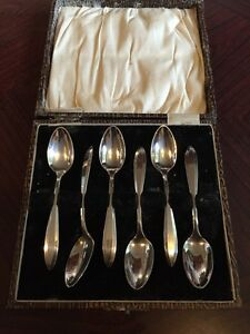 Lovely Set Of 6 Art Deco Community Plate Teaspoons
