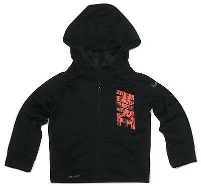 NWT Copper Denim Toddler Boys Black Fleck Zip Up Sweatshirt Hoodie Size 2t 3t 4t