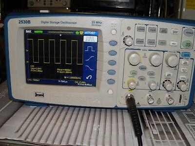 B&K Precision 2530B Digital Storage Oscilloscope: *GOOD WORKING & CALIBRATED*