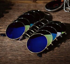 Men-Women-Vintage-Round-Mirrored-Sunglasses-Eyewear-Outdoor-Sports-Glasses