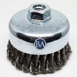 """Carbon Steel 5 Pack 2-3//4/"""" X 5//8/""""-11 Crimped Cup Brush"""