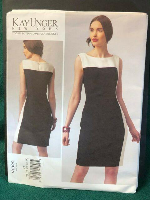 7e626c29fea43 Vogue DESIGNER 1329 Sewing Pattern Kay Unger NY Misses Dress Sizes 16-24  Uncut