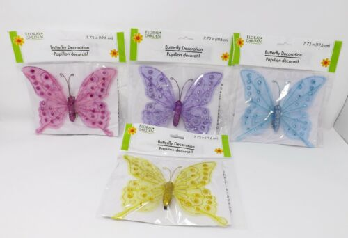 Floral Garden Decorative Clip On Butterfly New