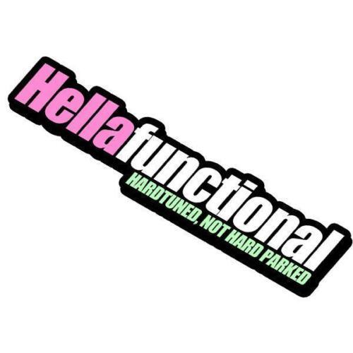 Hellafunctional JDM Drift Car Turbo Race Slap Sticker
