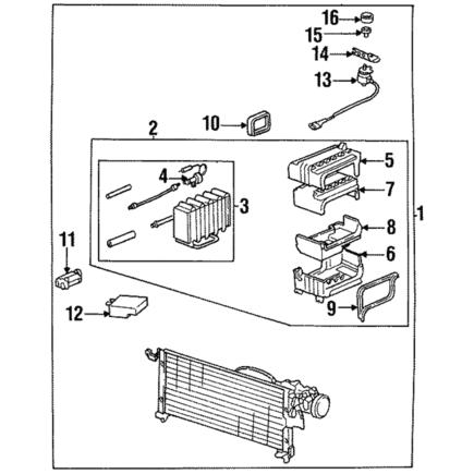 86-89 Honda Accord OEM A//C air conditioner ac condenser