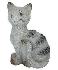 Katze Deko Figur Garten Terrasse Balkon Fensterbank Geschenk 37 cm NEU Frostsich