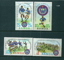 Samoa 1993 Seven-a-side Rugby World Cup set unmounted mint.