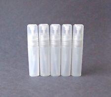 5 Clear Refillable Perfume Atomizer Plastic Mini Spray Empty Bottles 5 ml .17 oz