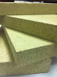 """3 x vermiculite villager feu briques briques rouge brique firebricks 9 /""""x 4.5/"""""""