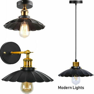 Vintage-Style-Modern-Industrial-Caged-Ceiling-Pendant-Light-Shade-Easy-Fit-Lamp