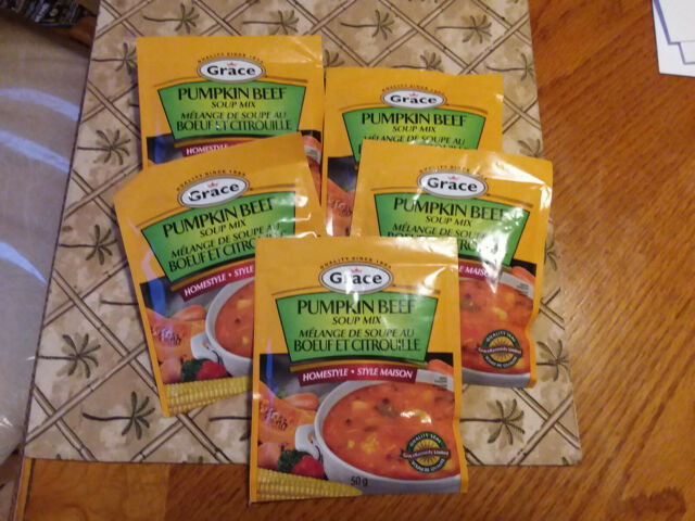 5 packages of jamaican grace beef pumpkin soup mix 50 g