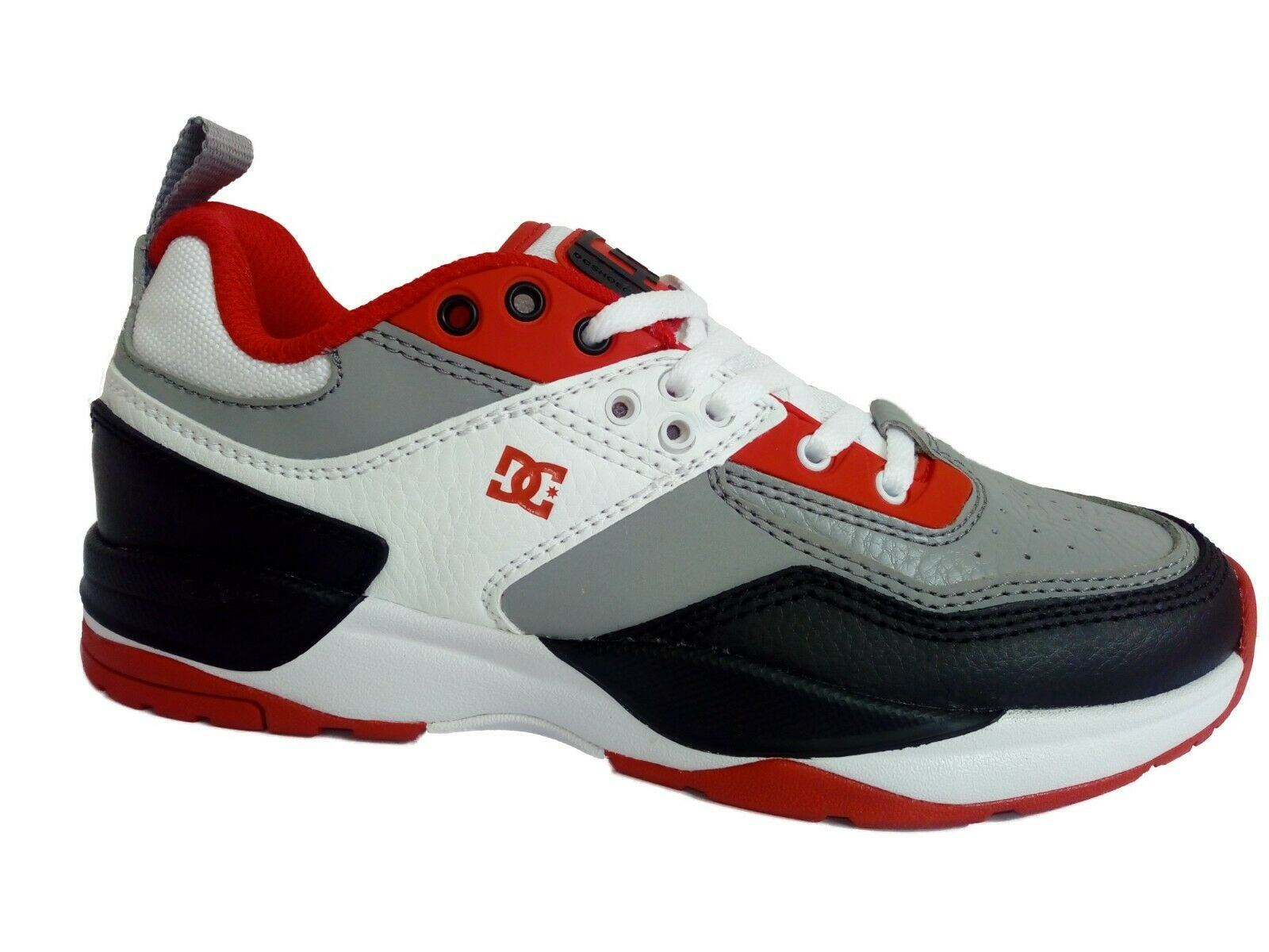 shoes da Ginnastica DC shoes E.Tribeka in Pelle color Whity grey red Numero 38