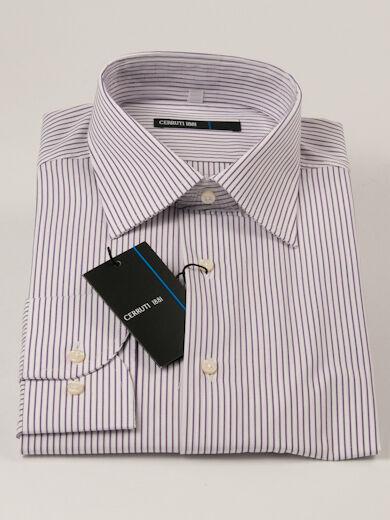 New Cerruti 1881 Stripe Long Sleeve Multi-color Cotton Shirt 44   17.1 2