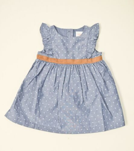 140172679-GYM001 Gymboree Chambray Polka Dot Baby Girl/'s Fall Dress