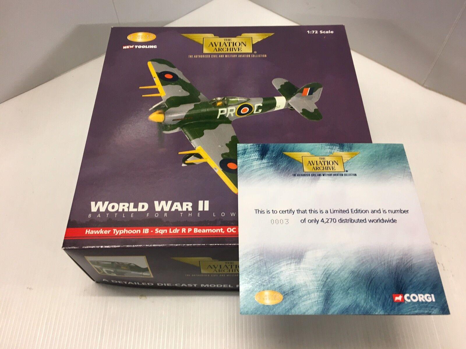 Corgi AA36502 Hawker Typhoon MkIB SW417 MR-X No245 Squadron Ltd Ed 0003 of 4270