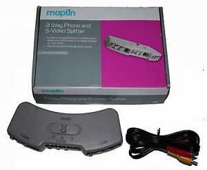 Maplin 3 Way Port Audio Video Av RCA Phono Manually selectable