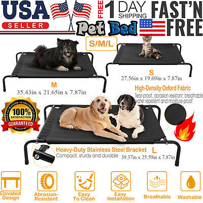 Dog Cat Puppy Cot Elevated Mesh Bed for Indoor or Outdoor Washable SELET COLORS