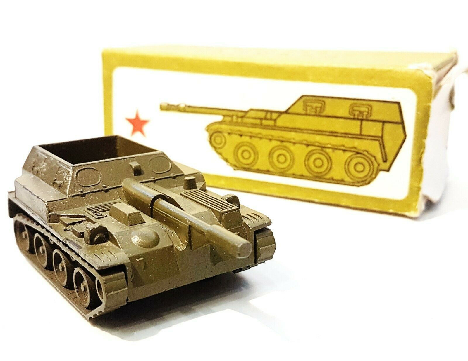 Vintage USSR Toy Self-propelled artillery cannon Soviet Armor Vehicles 1988 NIB