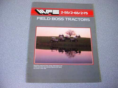 White 2-55 2-65 & 2-75 Tractor Brochure 16 Pages