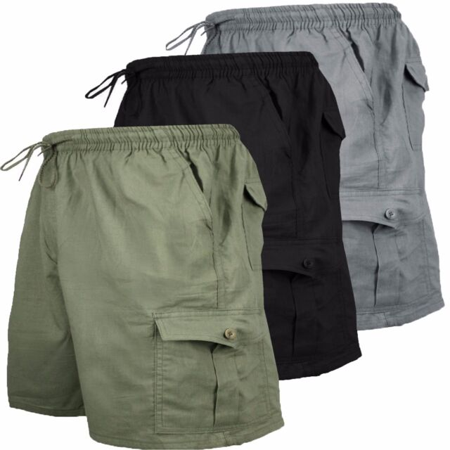 Bermuda Uomo Cotone Pantaloncino Corto Con Tasconi Colori Vari M L XL XXL G501