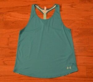 03c92e7ea47db0 Image is loading Girl-039-s-UNDER-ARMOUR-Green-Athletic-Tank-