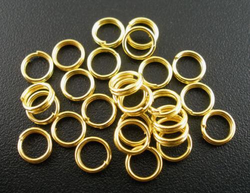 ... Lot 100 Anneaux double de jonction Doré 5mm colier 5 mm Creation bijoux