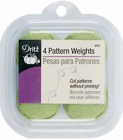 Dritz Fabric Pattern Weights One (4 Pack) Of Either Pink, Green Or Purple No C on sale