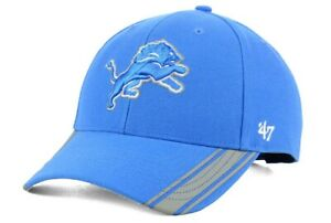 3f6e9335 NFL Detroit Lions '47 Brand Team Visor Stripes MVP Adult Men's Adj ...