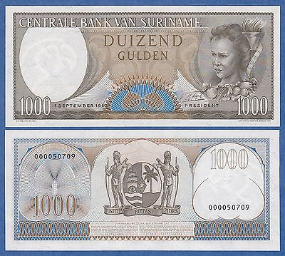 Suriname 1000 Gulden 1963 UNC P 124 Low Shipping! Combine FREE! P-124