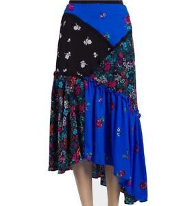 Topshop Ladies Midi Maxi Skirt Gypsy Boho Floral Summer Long Cocktail Dress £42