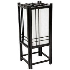 Japanese Black Double Cross Indirect Light Wood Paper TATAMI Shoji Lantern Lamp