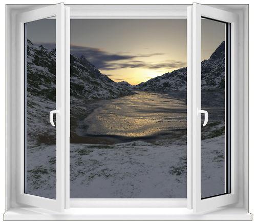 Aufkleber Fenster Schein Auge See Gefroren Ref 4
