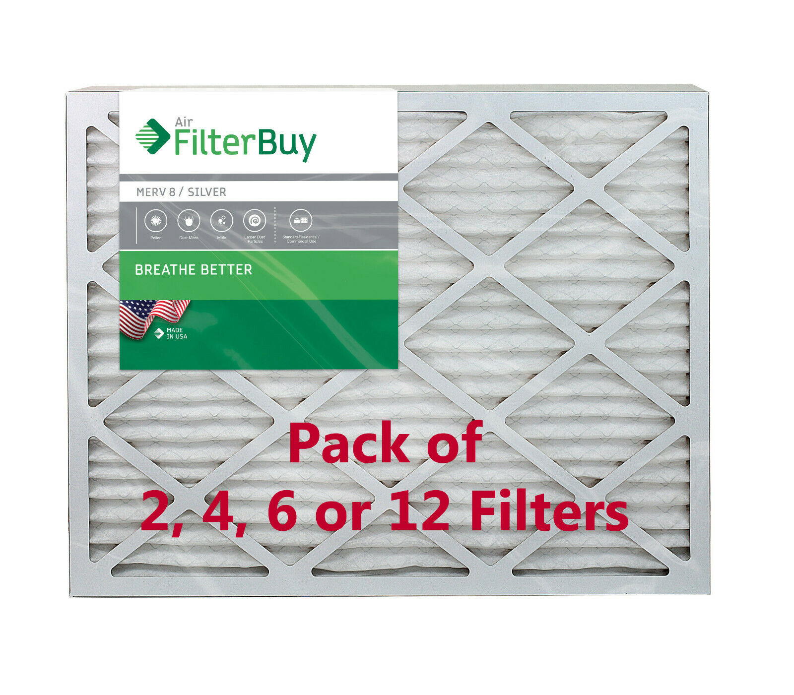 Nordic Pure 18x30x1 MERV 8 Pleated AC Furnace Air Filters 1 Pack