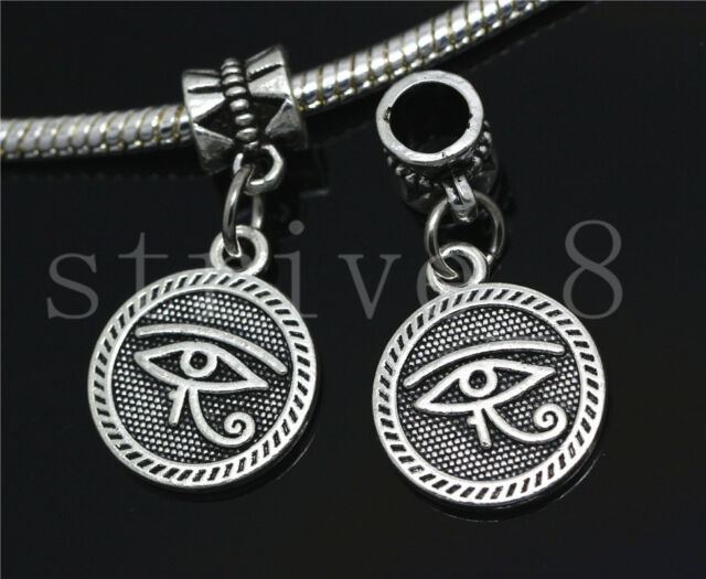 6//30//100pcs Antique Silver Circular LOVE Bulk Dangle European Charms Bracelet