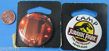 "BUTTON PAIR vintage JURASSIC PARK MOC Opening Park Gate/Camp Park Almost 2""!"