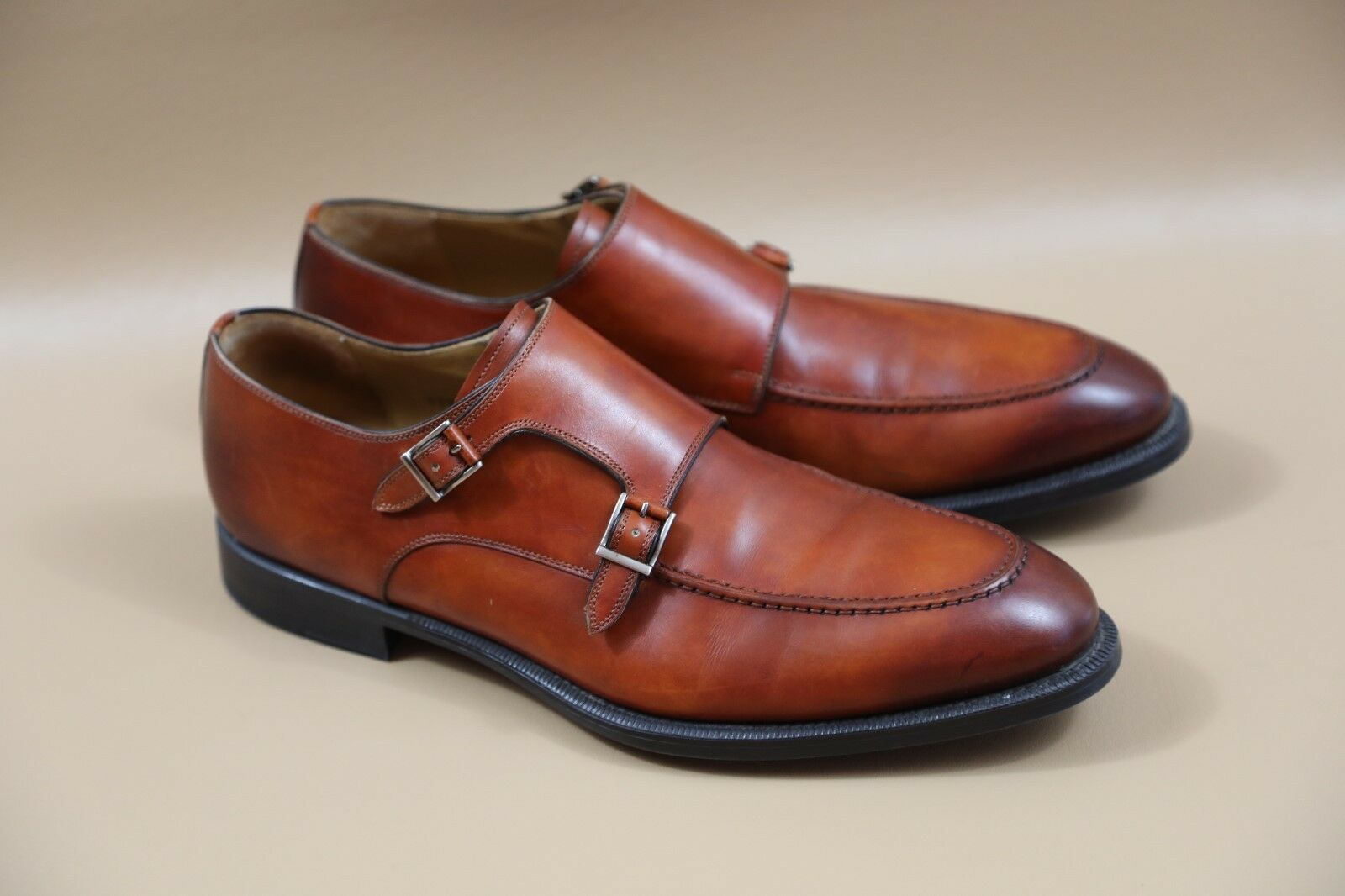 Scarpe casual da uomo  ** Magnanni 'Talbot' Double Strap Shoes Size 10.5  RETAIL 0