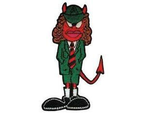 OFFICIAL-LICENSED-AC-DC-ANGUS-DEVIL-SHAPED-WOVEN-SEW-ON-PATCH-ROCK
