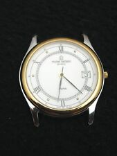 Vintage French Michel Herbelin Men's Watch Stainless Steel Gold Swiss 7 Jewel